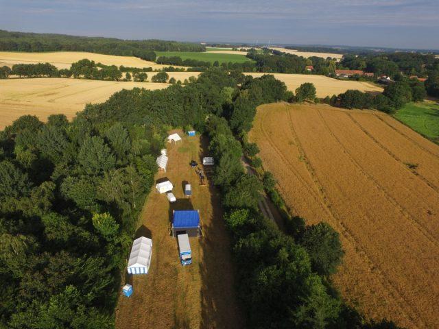 Luftaufnahme des OAS-Geländes von Bernd Meyer